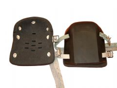 The Original Miners Heavy Duty Rubber Knee pads. Ventilated. Leather Straps.